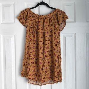 Forever 21 Marigold Off-the-Shoulder Dress